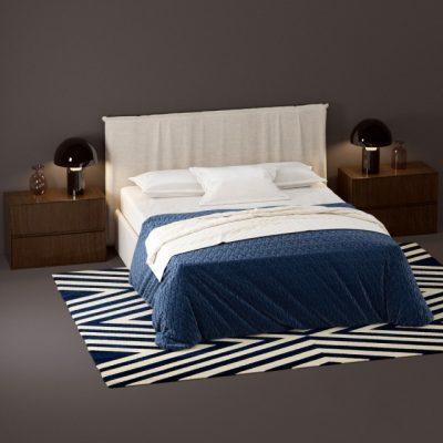 Novamobili Twiggy Bed 3D Model