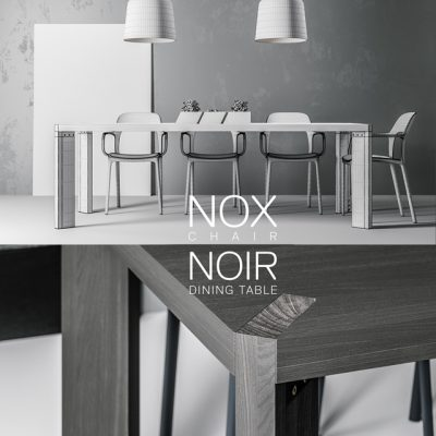 Nox and Noir – Table & Chair 3D Model