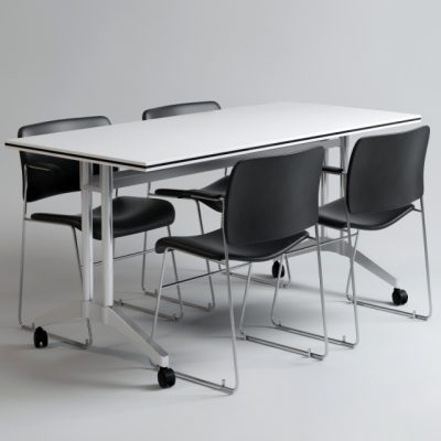 Office Table & Chair Set-02 3D Model