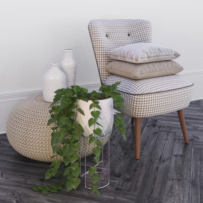 Oliver Bonas and Zara Home Table & Chair 3D Model