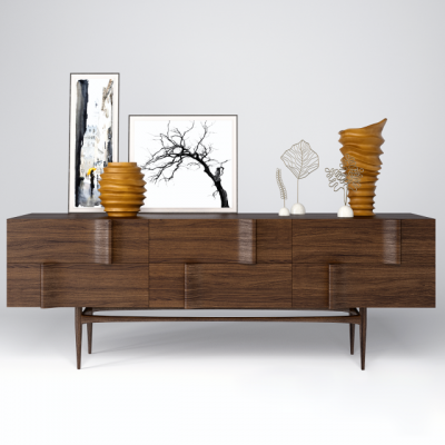 Onda Sideboard And Decoration 3D Model