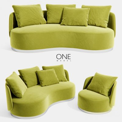 One Mebel Reze Armchair & Sofa 3D Model