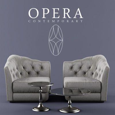 Opera Butterfly Sofa 3D Model