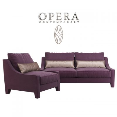 Opera Rosalie Sofa Set 3D Model