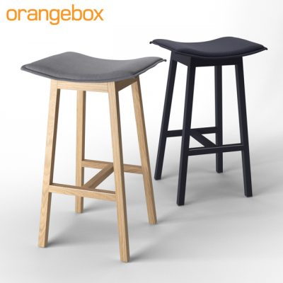 Orange Box On Your Jays Cafe Stool 3D Model