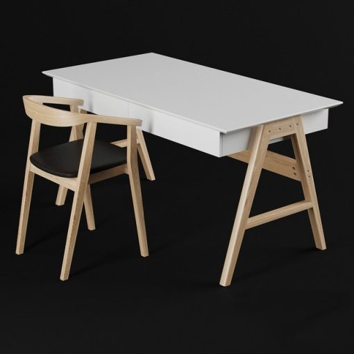 Orient and John Table & Chair 3D Model