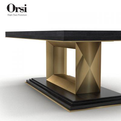 Orsi Bronze Dining Table 3D Model