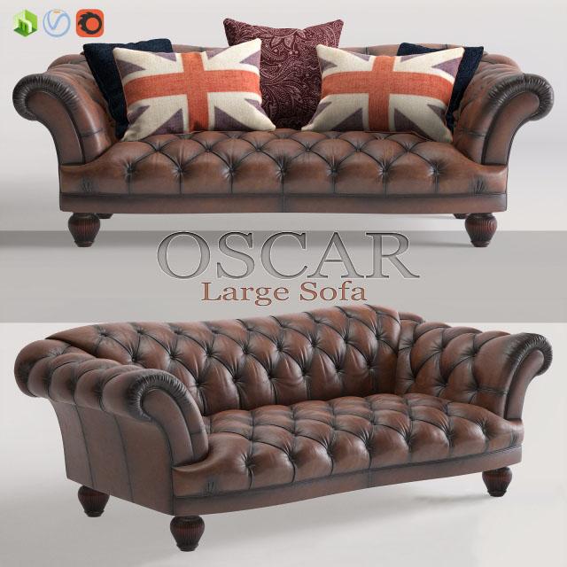 Oscar Large Sofa 3D Model