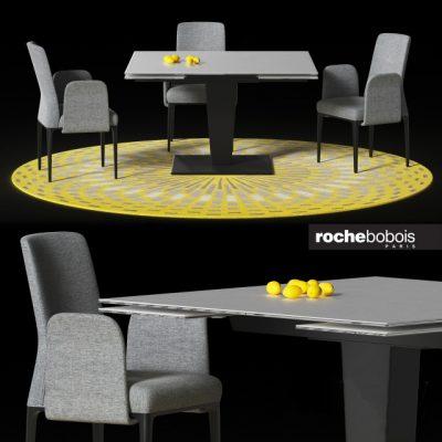 Osiris Dining Table & Chair 3D Model