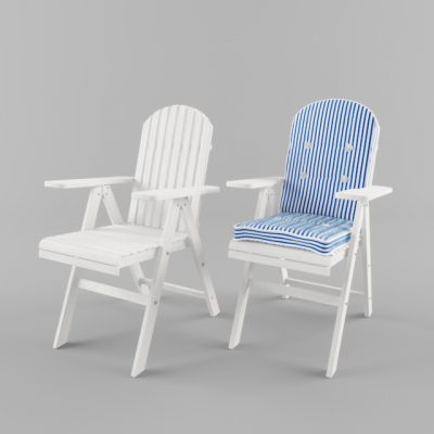 Outdoor Group Table & Chair 3D Model