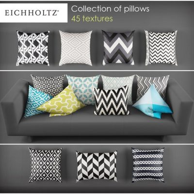Decor Pillows Set 3D Model