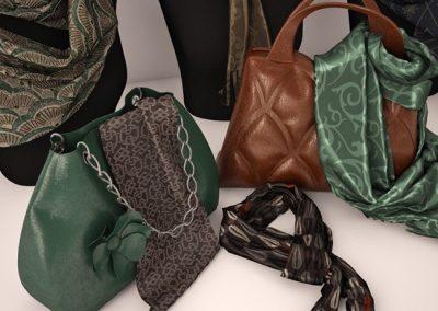 Palantin and Bags 3D model 2