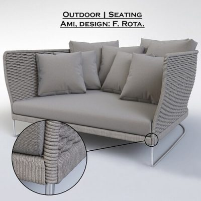 Paola Lenti - Ami Chair 3D model