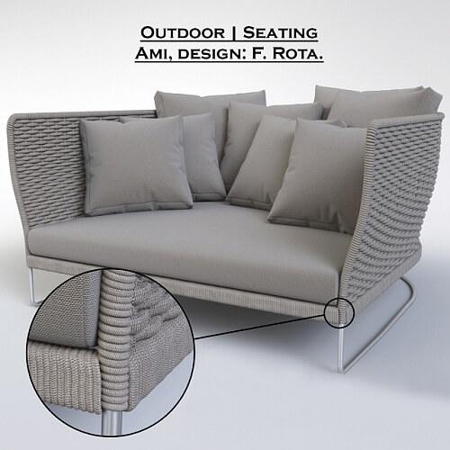 Paola Lenti - Ami Chair 3D model