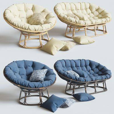 Papasan Mamasan Sofa 3D Model