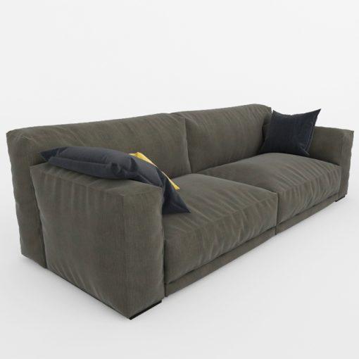 Paris-Seoul Sofa 3D Model 2