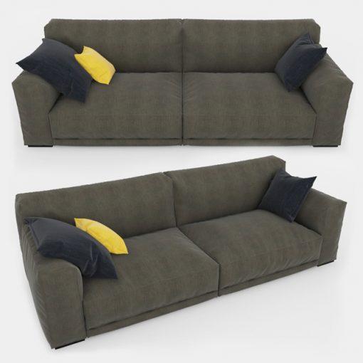 Paris-Seoul Sofa 3D Model 3