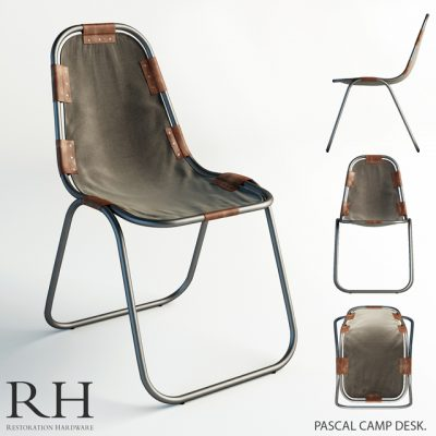 Pascal Camp Desk Chair 3D Model