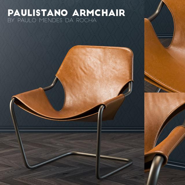 Paulistano Armchair 3D Model