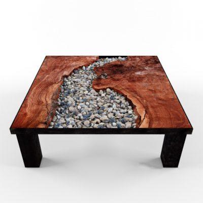 Pebble Wood Table 3D Model