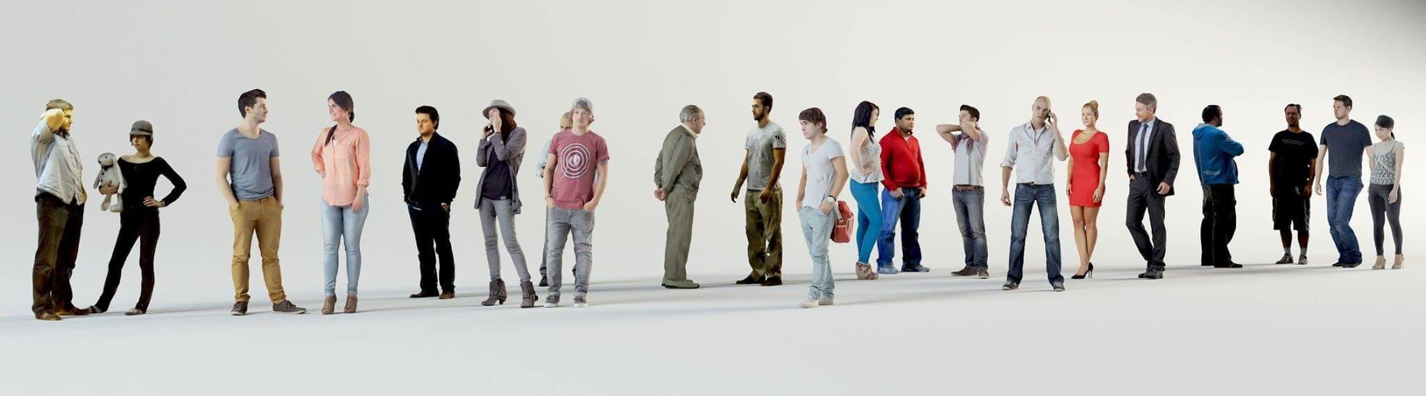 3D people Collection 3D model