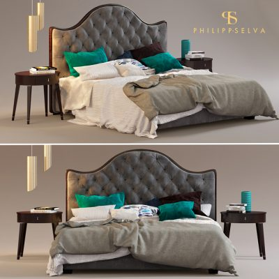 Philipp Selva Letto Onda Bed 3D Model