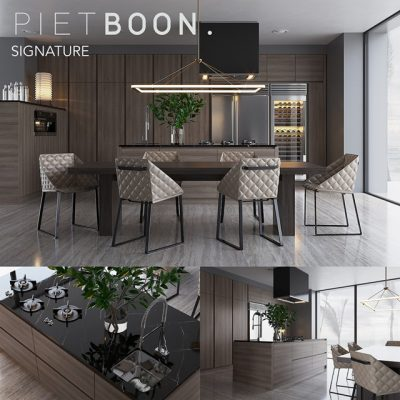 Piet Boon Signature Dining Table & Chair 3D Model
