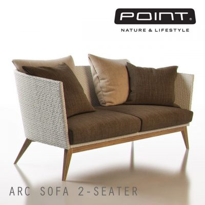 Point Arc Outdoor 2-Seater Sofa 3D Model