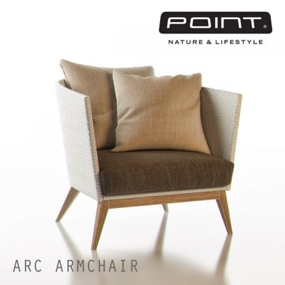Point Arc Outdoor Armchair 3D Model