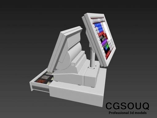 Point of sale POS Shop 3D Model 2
