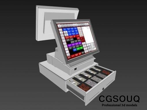 Point of sale POS Shop 3D Model 4