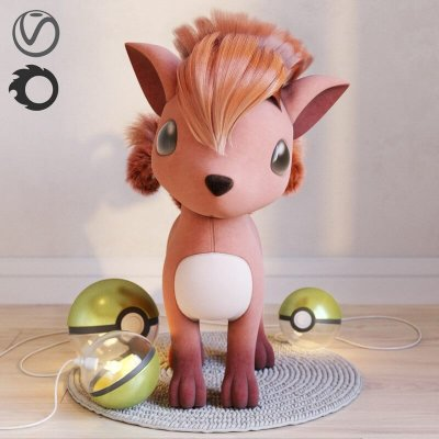 Pokemon Vulpix 3D model 1