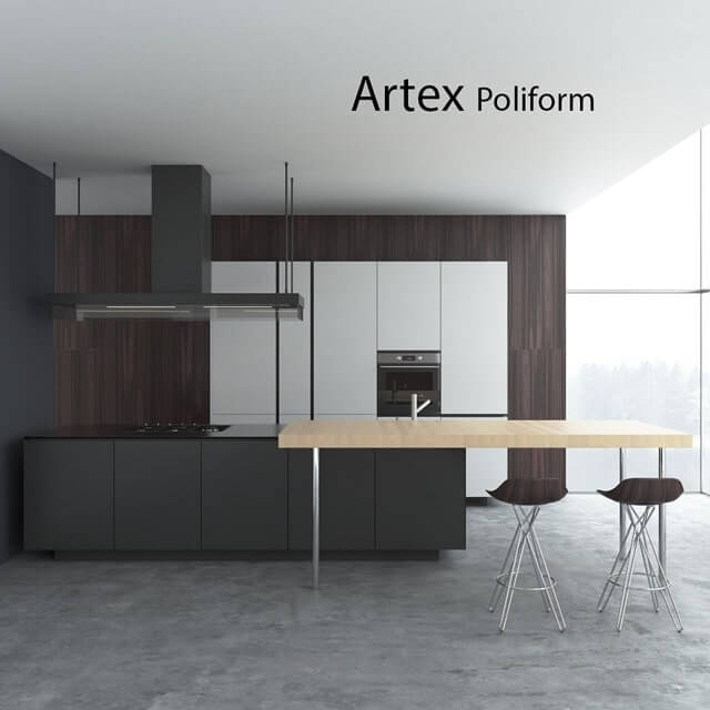 Poliform Artex 3D model 1