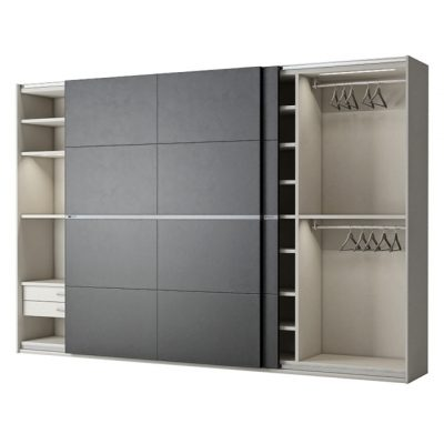Poliform Bangkok Cupe 2 Doors Wardrobe 3D Model