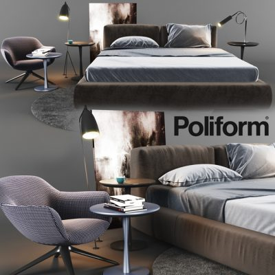 Poliform Bedroom Set 2 3D Model