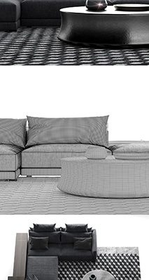 Poliform Bristol Composiiton-B Sofa 3D Model
