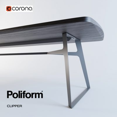 Poliform Clipper Dining Table 3D Model