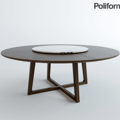 Poliform Concorde Table Set-02 3D Model