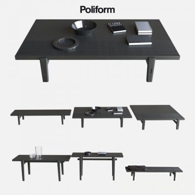 Poliform Home Hotel Coffee Tables 3D Model