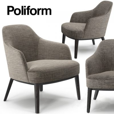 Poliform Jane Armchair 3D Model