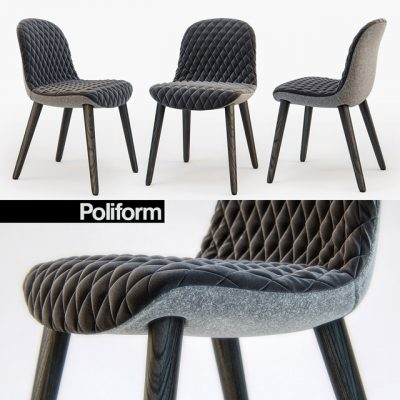 Poliform MAD Dining Chair 3D Model