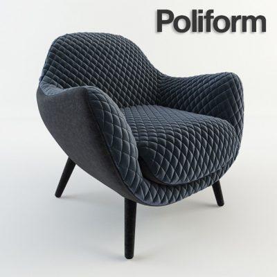 Poliform Mad Queen Armchair 3D Model