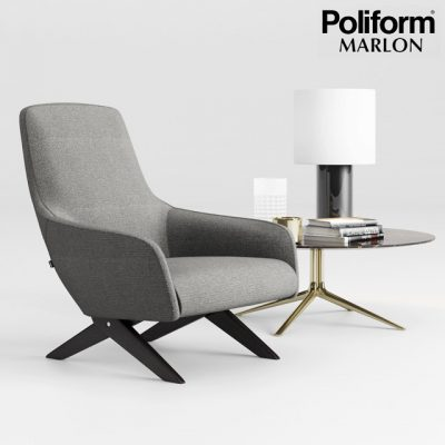 Poliform Marlon Armchair 3D Model