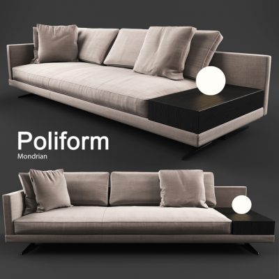 Poliform Mondrian Sofa 3D Model