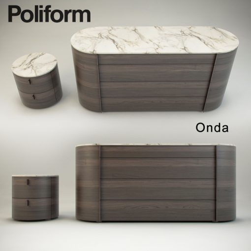Poliform Onda Sideboard 3D Model 2