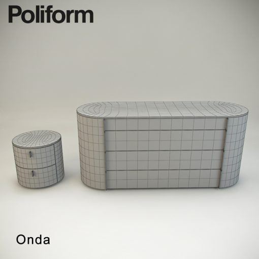 Poliform Onda Sideboard 3D Model 3