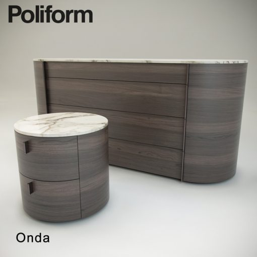 Poliform Onda Sideboard 3D Model