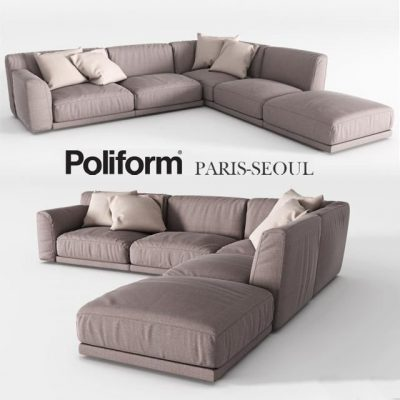 Poliform Paris-Seoul Sofa Set-03 3D Model