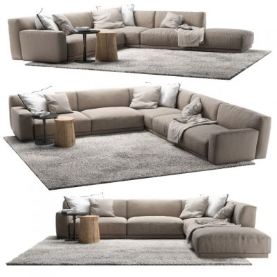 Poliform Paris Seoul Sofa Set-04 3D Model