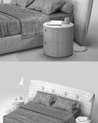 Poliform Rever Bed 3D Model